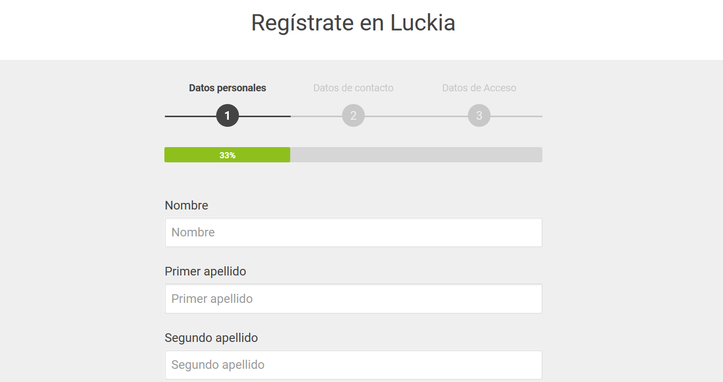 registrarse en luckia